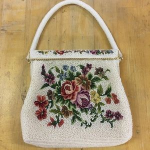 Vintage Beaded and Embroidered purse handbag